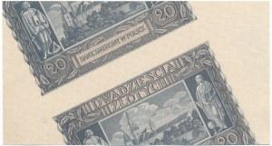 20 złotych 1940 - spektakularny destrukt