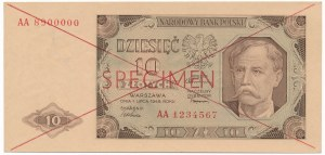 10 złotych 1948 -AA- SPECIMEN -