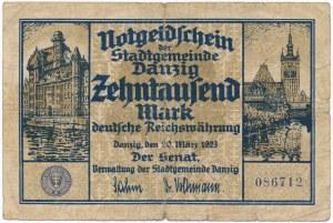 Gdańsk 10.000 marek 1923 - rzadki