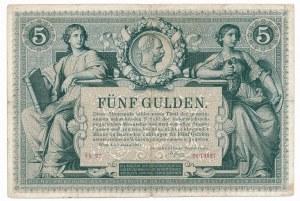 Austria 5 guldenów 1881