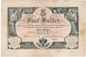 Austria 5 guldenów 1866 - bardzo ładny