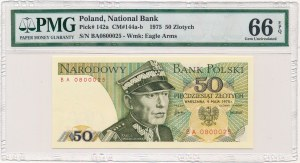 50 złotych 1975 -BA- PMG 66 EPQ