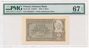 2 złote 1940 -D- PMG 67 EPQ