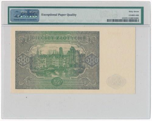 500 złotych 1946 -I- PMG 67 EPQ
