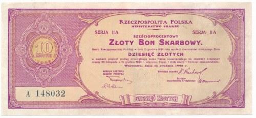 Złoty Bon Skarbowy - Serja II A - 10 złotych 1923