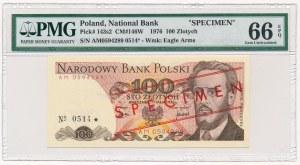 100 złotych 1976 WZÓR -AM- No.0514 - PMG 66 EPQ
