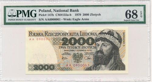 2.000 złotych 1979 -AA- PMG 68 EPQ