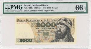 2.000 złotych 1982 -BU- PMG 66 EPQ