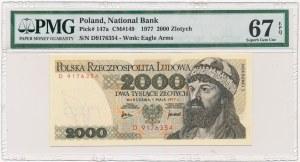 2.000 złotych 1977 -D- PMG 67 EPQ