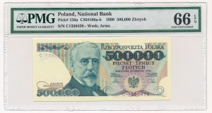 500.000 złotych 1990 -C- PMG 66 EPQ - rzadsza seria