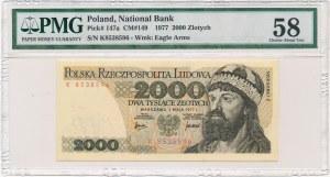 2.000 złotych 1977 -K- PMG 58 - rzadsza seria