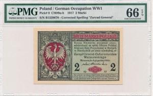 2 marki 1916 Generał -B- PMG 66 EPQ