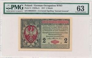 2 marki 1916 Generał -B- PMG 63