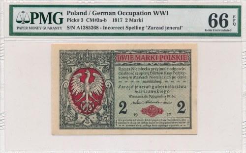 2 marki 1916 Jenerał -A- PMG 66 EPQ