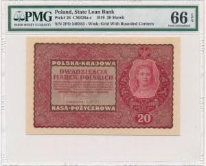 20 marek 1919 - II Serja FO - PMG 66 EPQ