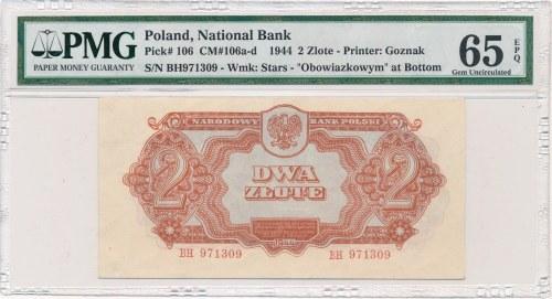 2 złote 1944 ...owym -BH- PMG 65 EPQ