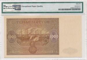1000 złotych 1946 -P- PMG 66 EPQ - piękny