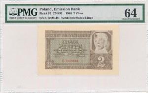 2 złote 1940 -C- PMG 64