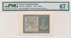 1 złoty 1941 -AF- PMG 67 EPQ