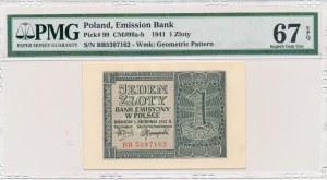 1 złoty 1941 -BB- PMG 67 EPQ