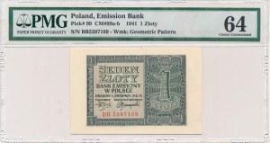 1 złoty 1941 -BB- PMG 64