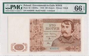 100 złotych 1939 -K- PMG 66 EPQ