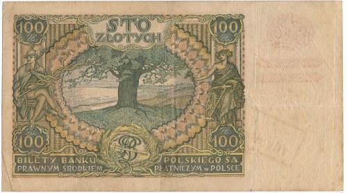 100 złotych 1934(9) -AL- z nadrukiem