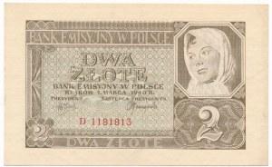 2 złote 1940 -D-