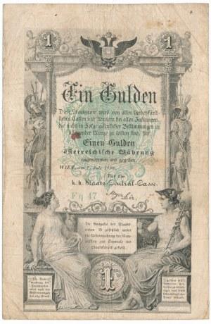 Austria 1 gulden 1866