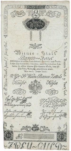 Austria 2 guldeny 1800 - ładny