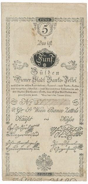 Austria 5 guldenów 1800