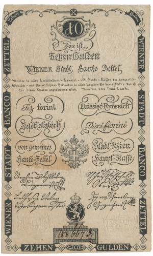 Austria 10 guldenów ryńskich 1806