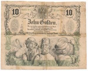 Austria 10 guldenów 1863 - rzadki