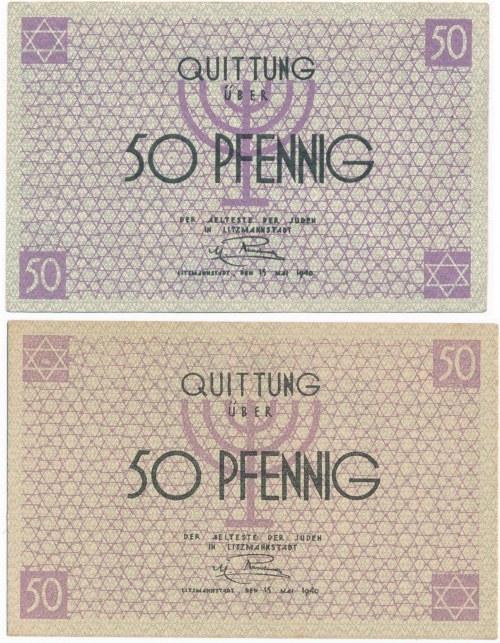 50 fenigów 1940 - para odmian kolorystycznych - RZADKIE