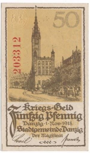 Gdańsk 50 fenigów 1918