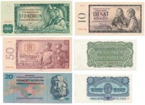 Czechosłowacja - Zestaw banknotów 1960-1970