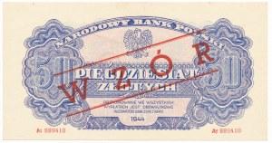 50 złotych 1944 ...owe z nadrukiem WZÓR -At-