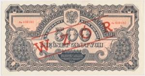 500 złotych 1944 ...owe z nadrukiem WZÓR -Ax-