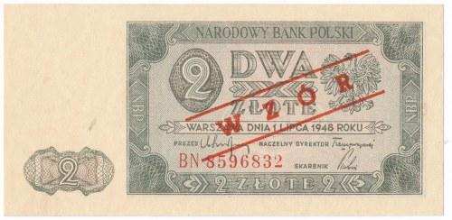 2 złote 1948 WZÓR -BN- RZADKI
