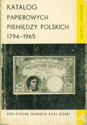 Katalog Papierowych Pieniędzy, Jabłoński, Warszawa 1967