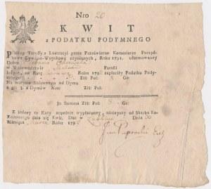 Kwit opłaty z podymnego 1792 rok - Lublin