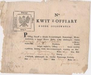 Kwit z poboru z Dóbr Duchownych 1794 - Nr. 10