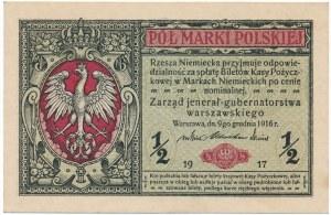 1/2 marki 1916 Jenerał -A- numerator czerwony