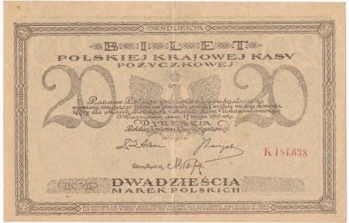 20 marek 1919 - K - z przecinkiem - rzadka