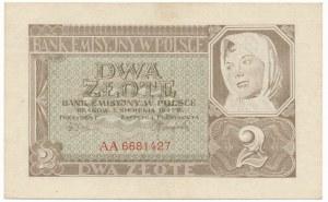 2 złote 1941 -AA- pierwsza seria