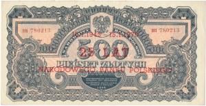 500 złotych 1944 ...owe -BH- SPECIMEN i nadruk z okazji 25 lat NBP