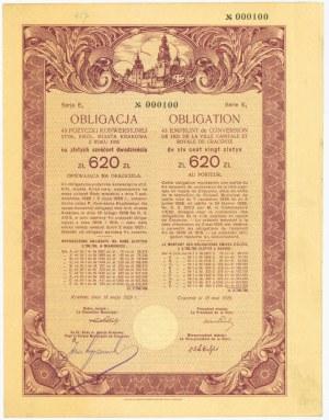 Kraków Obligacja 4% Pożyczka Konwersyjna - Ser.E1 620 złotych