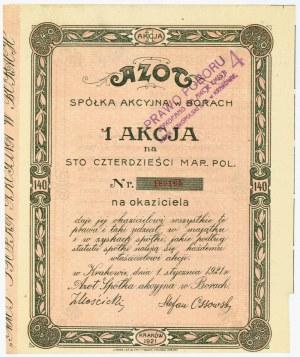 AZOT Spółka Akcyjna w Borach, Em.1, 140 marek 1921