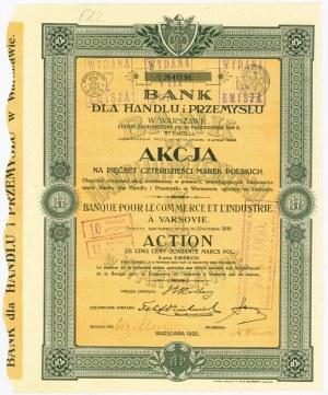 Bank dla Handlu i Przemysłu, Em.5, 540 marek 1909