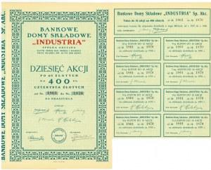 Bankowe Domy Składowe INDUSTRIA, 10x40 złotych 1926
